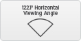 Horizontal view angle 122.1 degree